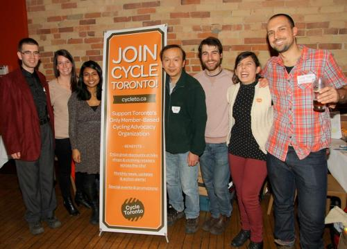 Cycle Toronto volunteers at the Toronto Bike Awards: photo by Marlena Rogowska